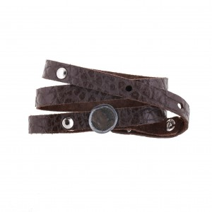"""Antique"" leather bracelet"