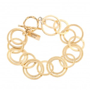 Silver bracelet, gold-plated