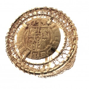 Silver ring, gold-plated (1)